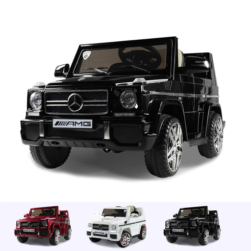 RiiRoo Mercedes G65 Kids Ride On Car - 12V 2WD Black