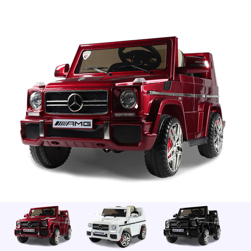 RiiRoo Mercedes G65 Kids Ride On Car - 12V 2WD Red
