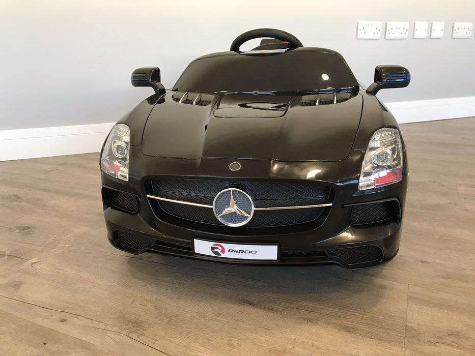 RiiRoo Mercedes SLS Style Ride On Car in black front