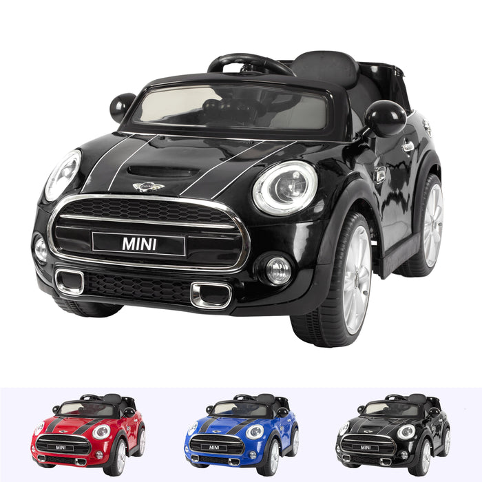 RiiRoo Mini Cooper S Ride On Car - 12V 2WD Black
