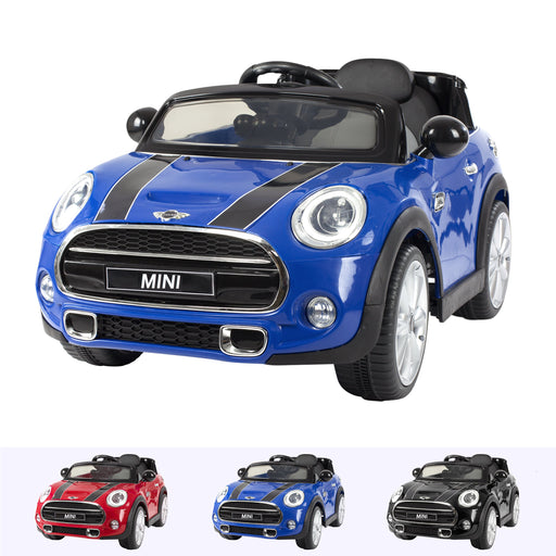 RiiRoo Mini Cooper S Ride On Car - 12V 2WD Blue