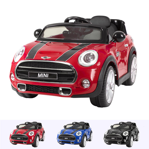 RiiRoo Mini Cooper S Ride On Car - 12V 2WD Red