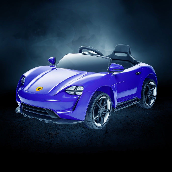 RiiRoo Porsche Mission E Taycan Style Ride on Car - 12V 2WD Blue