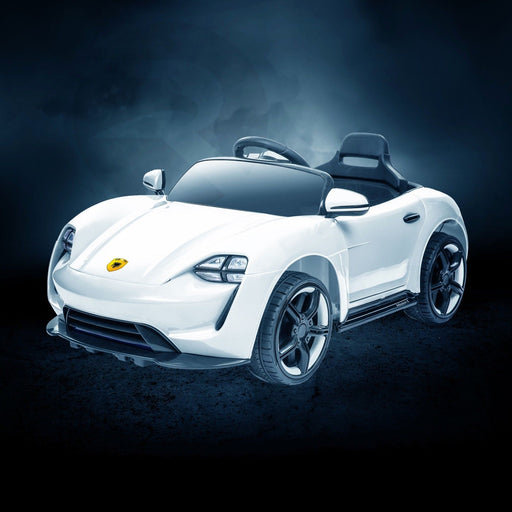 RiiRoo Porsche Mission E Taycan Style Ride on Car - 12V 2WD White