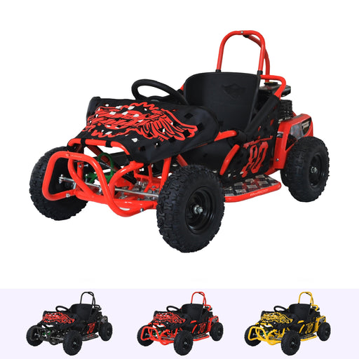RiiRoo RiiRoo 4 Wheel 80CC Petrol Off Road Go Kart Buggy Outdoor Kids Ride On Go-Kart