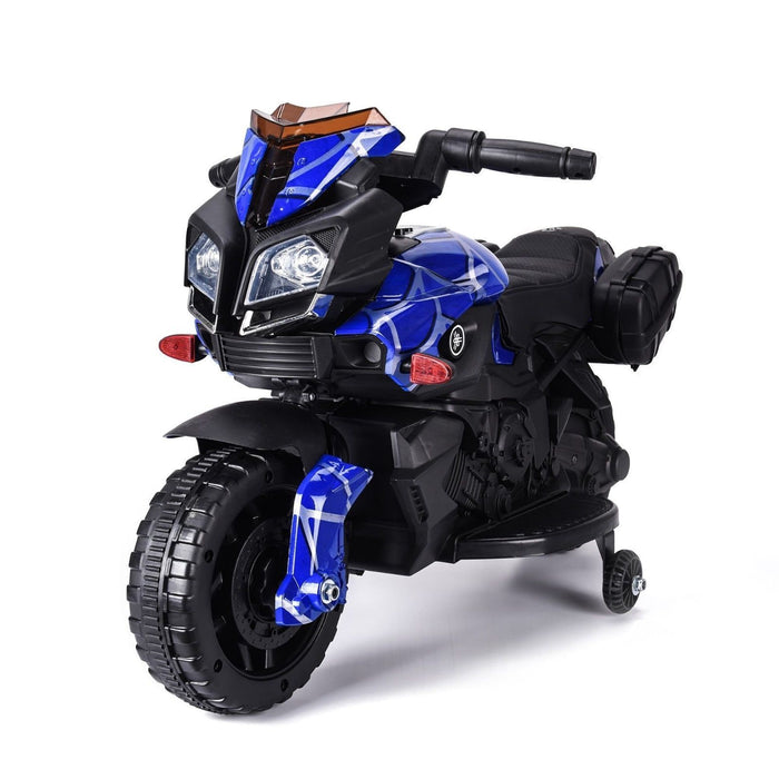 RiiRoo RiiRoo KTM Duke Style Ride On Motorbike/Trike - 6V Spiderman Blue
