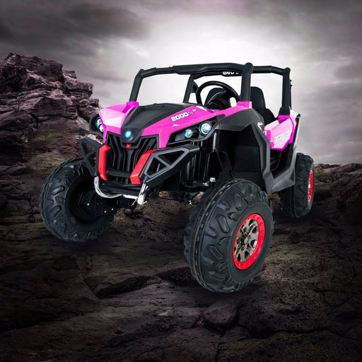 RiiRoo MaxPow™ UTV-MX Ride on Buggy In Pink- 4WD