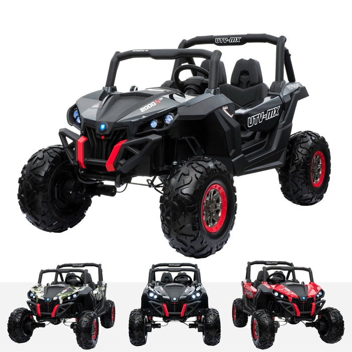 RiiRoo RiiRoo MaxPow™ UTV-MX Ride on Buggy - 24V 4WD Carbon Fibre Black