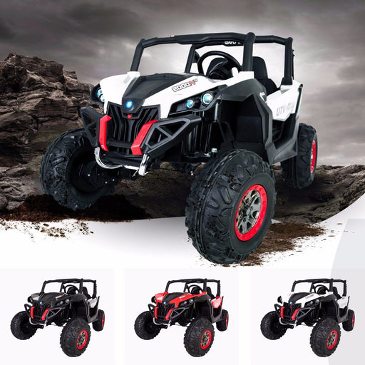 RiiRoo RiiRoo MaxPow™ UTV-MX Ride on Buggy - 24V 4WD White