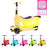 RiiRoo RiiRoo ThreeinOne Maxi Scooter Yellow