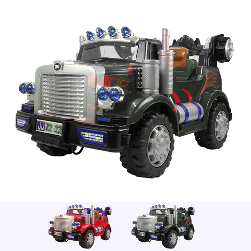 RiiRoo Transformer Style Truck - 12V 2WD Green