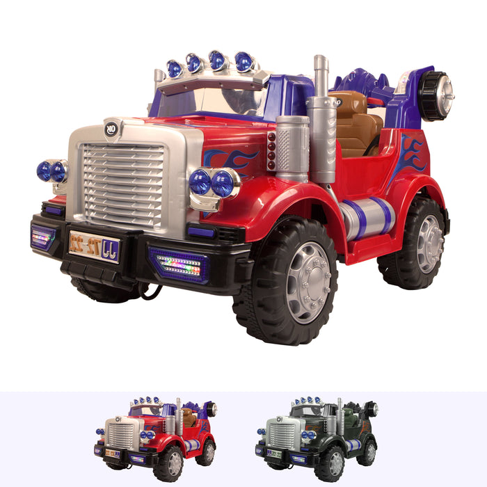 RiiRoo Transformer Style Truck - 12V 2WD Red