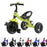 RiiRoo Trike Rider Kids Tricycle Green