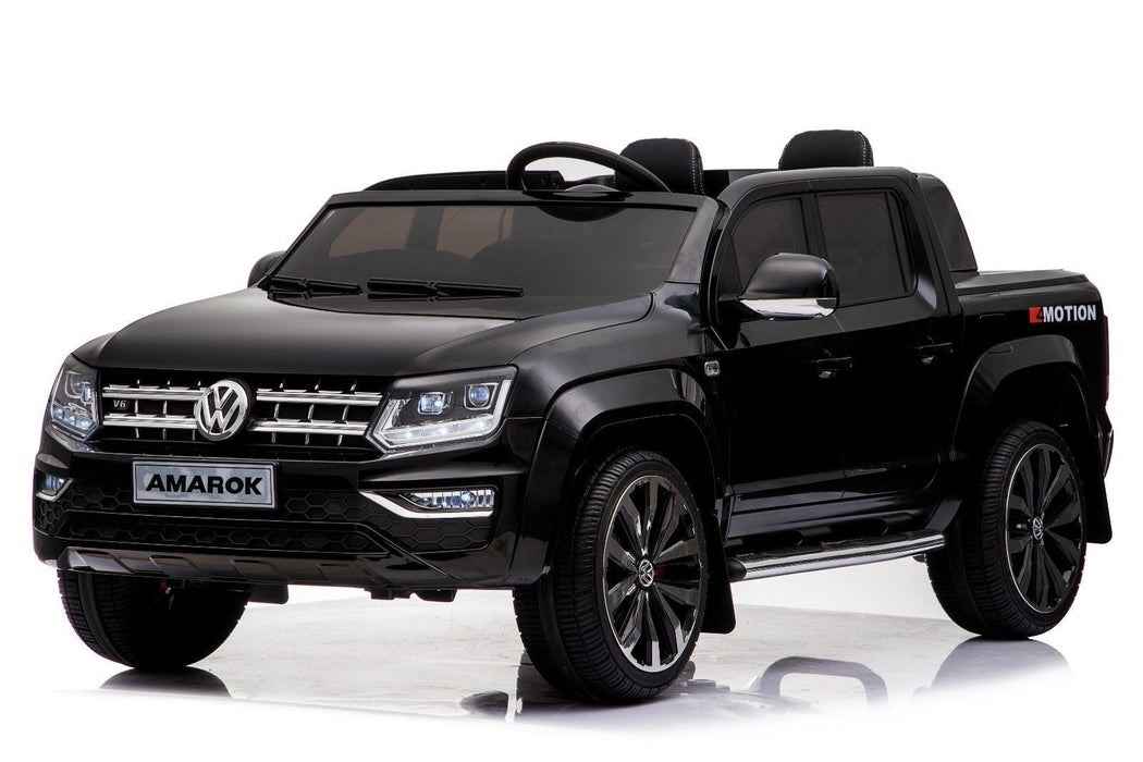 RiiRoo VW Amarok Pick Up Ride on Car - 12V 2WD Black