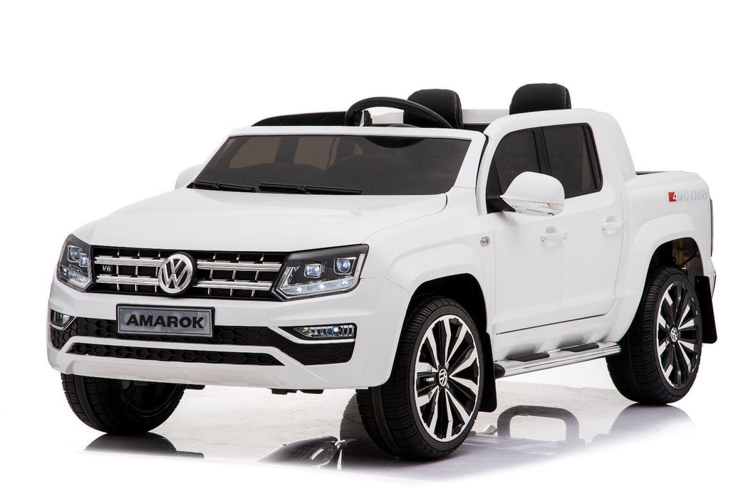 RiiRoo VW Amarok Pick Up Ride on Car - 12V 2WD White