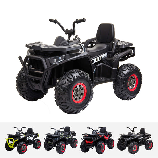 xmx 607 mini utv quad black grid Carbon Fiber riiroo 12v quad atv battery powered motorbike kids car with music and led lights