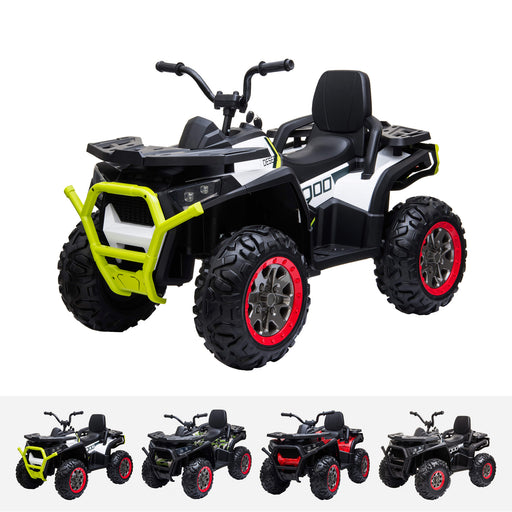 xmx 607 mini utv quad white White riiroo 12v quad atv in white