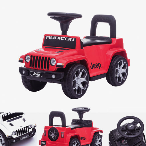 Jeep Rubicon Electric & Push Along Car - Licensed