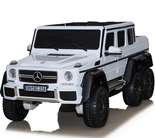 dmd 318 white1 mercedes benz g63 maxi ride on toy in white