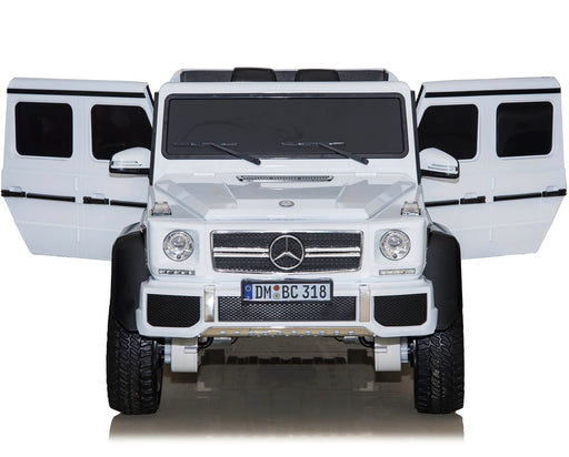 dmd 318 white8 mercedes benz g63 maxi ride on toy in white