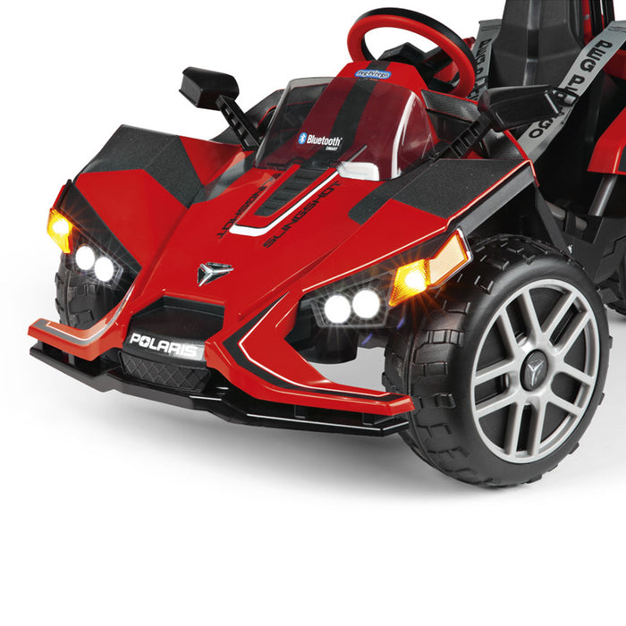 Peg Perego Polaris SlingShot Single Seater with Remote  - Red & Black