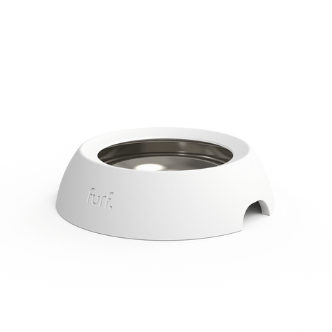 Furf Spill Resistant Pet Bowl - Bone White