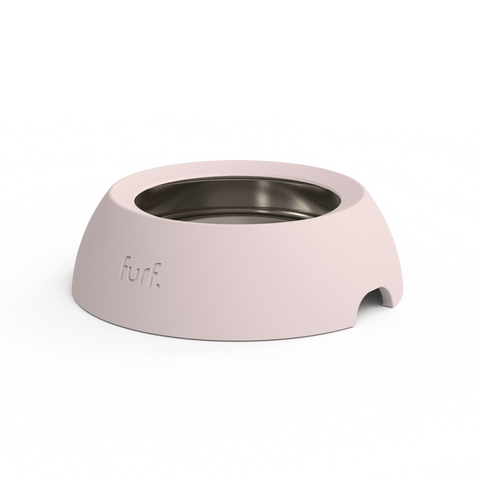 Furf Spill Resistant Pet Bowl - Dusty Pink