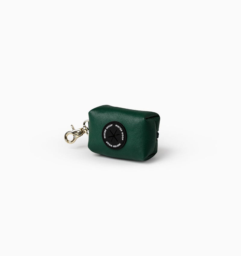 Mister Woof Mister Woof Leather Poop Bag - Classic Hunter Green