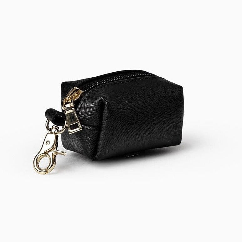 Mister Woof Mister Woof Leather Poop Bag - Classic Jet Black