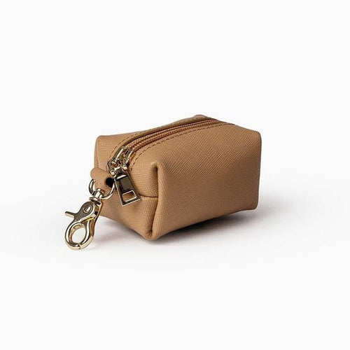 Mister Woof Mister Woof Leather Poop Bag - Classic Tan