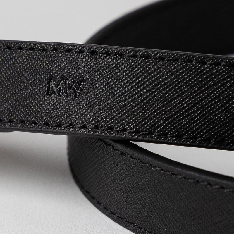 Mister Woof Mister Woof Leather Leash - Classic Jet Black