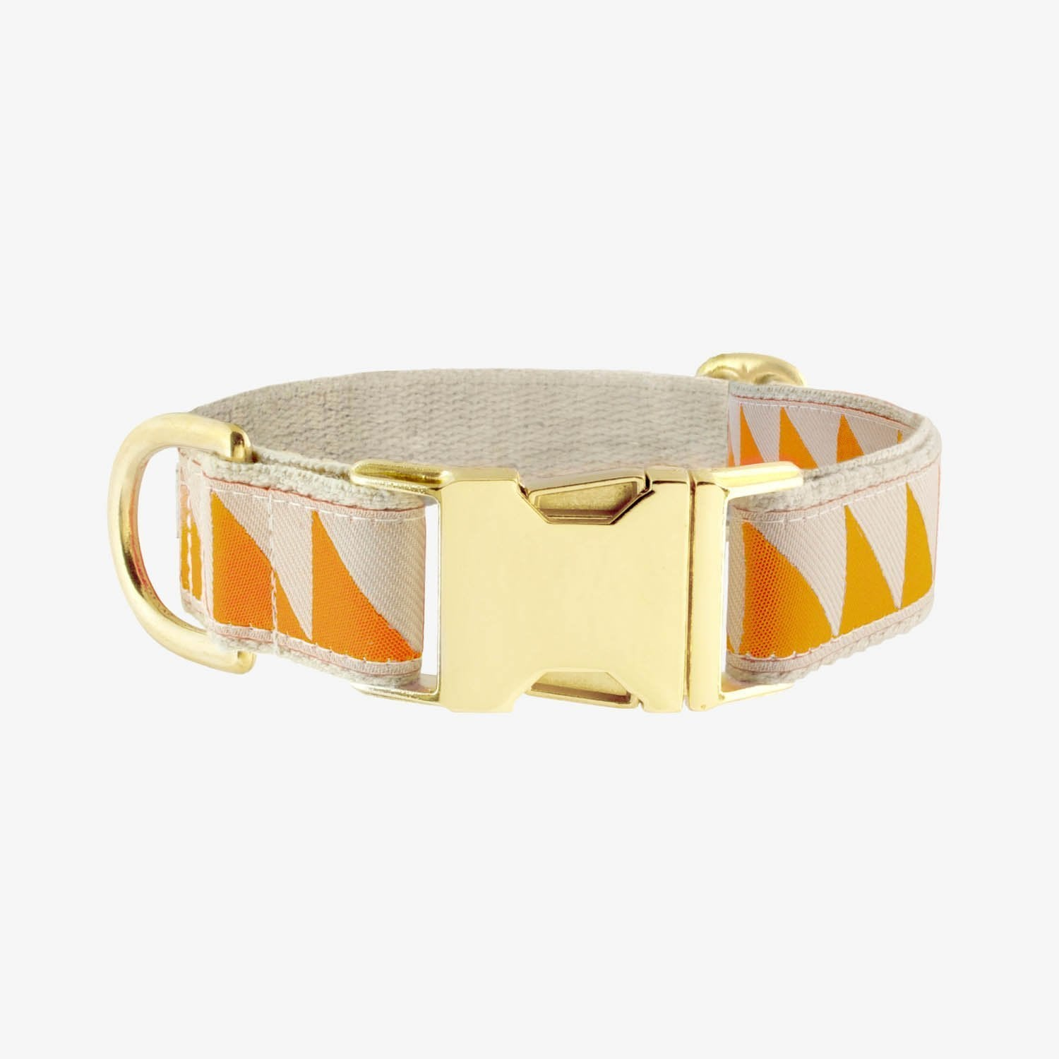See Scout Sleep Nice Grill Brass Collar - Tangerine and Cream