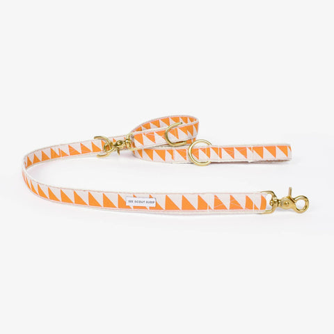 See Scout Sleep Nice Grill City Leash - Tangerine and Cream