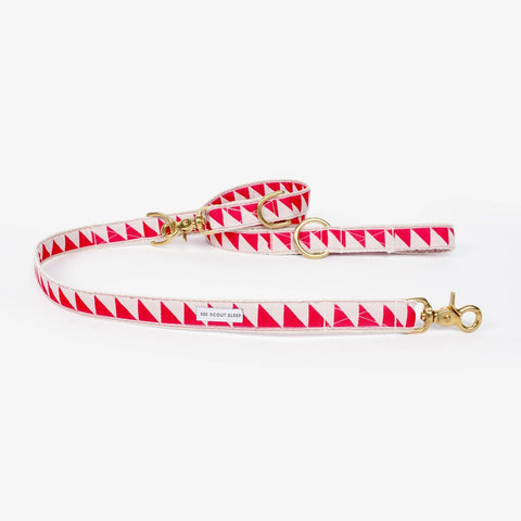 See Scout Sleep Nice Grill City Leash - Vermillion and Cream
