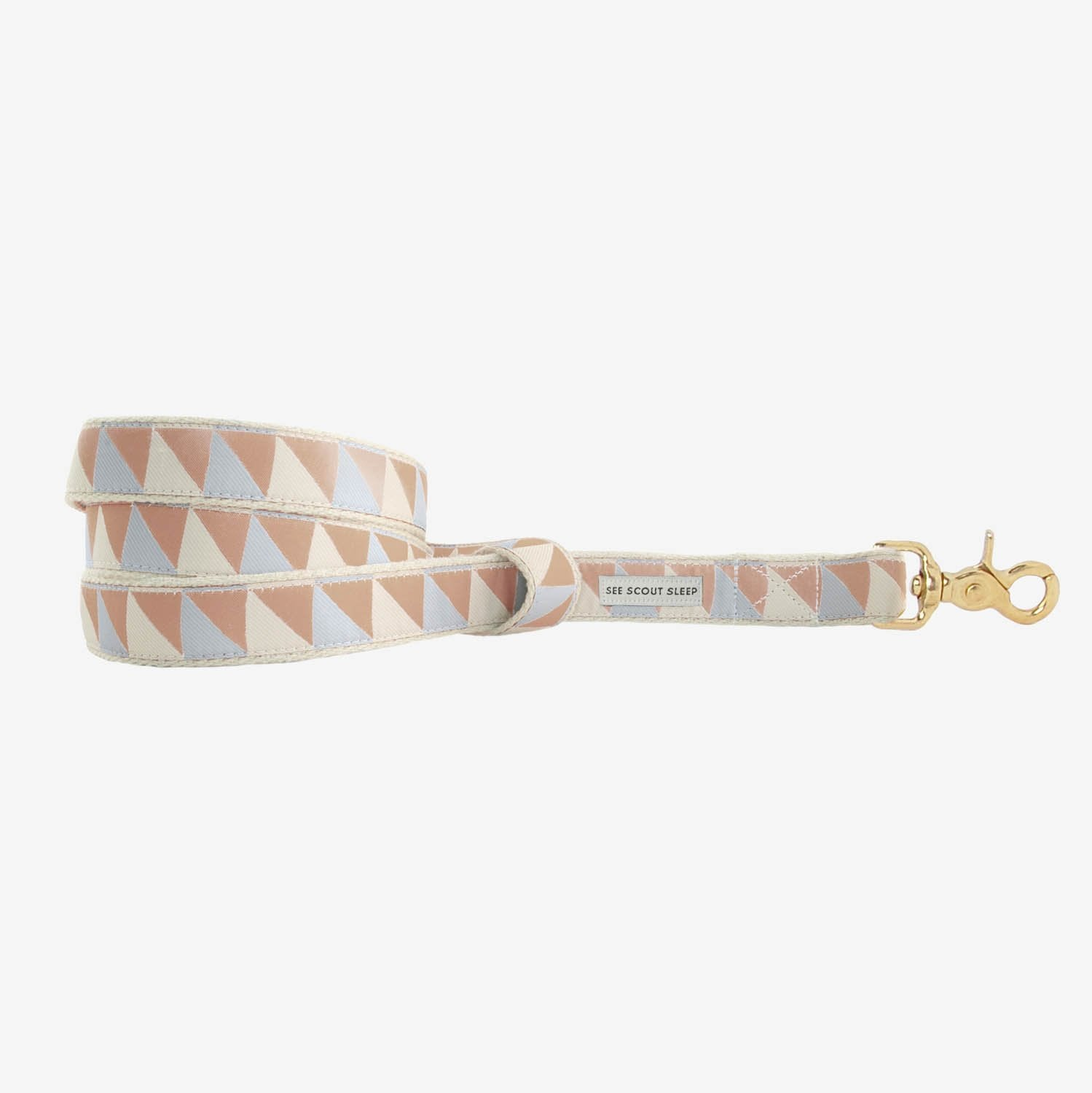 See Scout Sleep Nice Grill Standard Leash - Camel Ivory and Blue