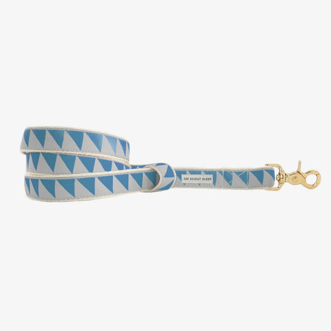 See Scout Sleep Nice Grill Standard Leash - Sky and Ice Blue