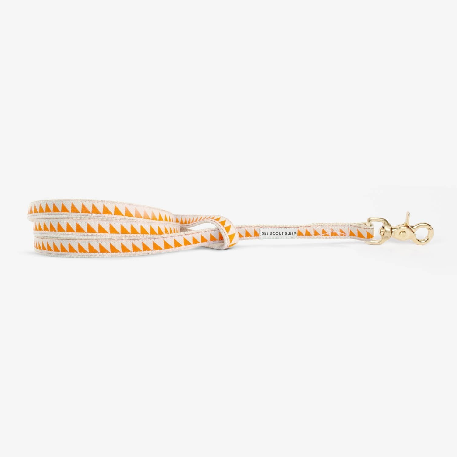 See Scout Sleep Nice Grill Standard Leash - Tangerine and Cream
