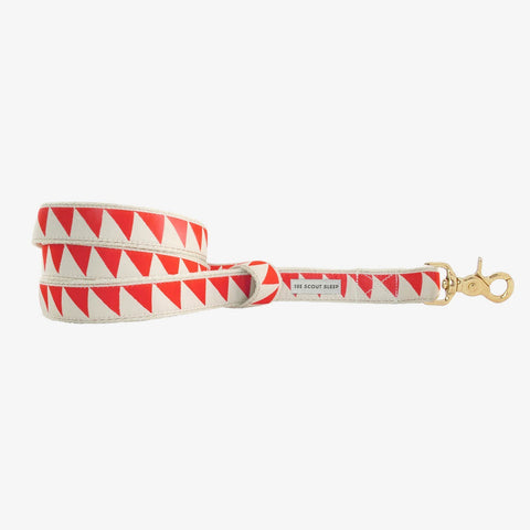 See Scout Sleep Nice Grill Standard Leash - Vermillion and Cream
