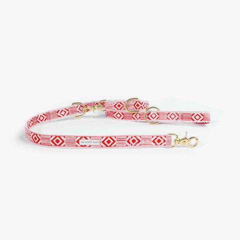 See Scout Sleep Out of My Box City Leash - Vermillion and Cream