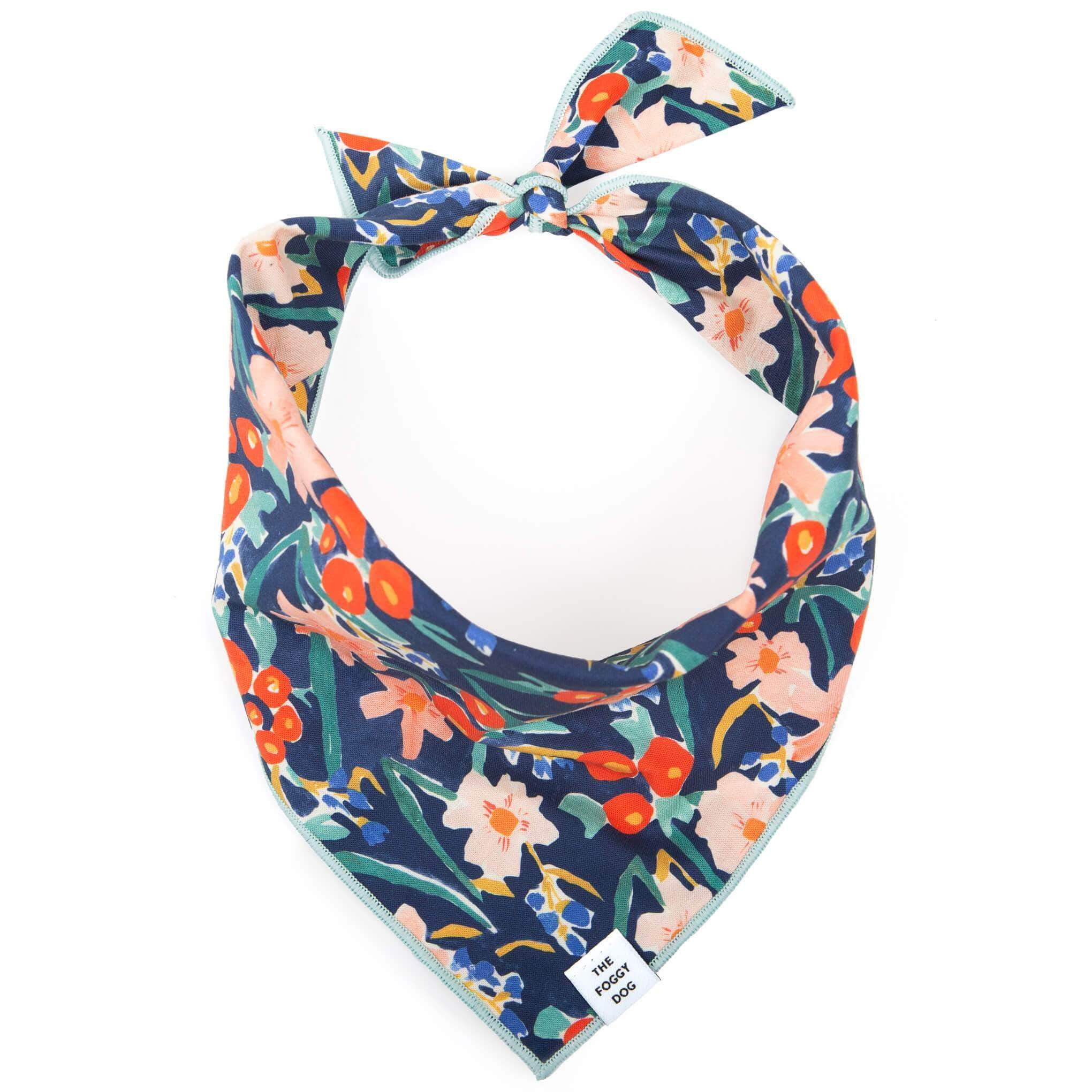 The Foggy Dog Dog Bandana - Inky Blooms