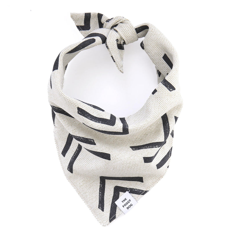 Dog Bandana - Modern Mud Cloth Natural