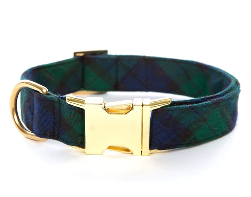 Blackwatch Plaid Dog Collar
