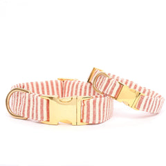 The Foggy Dog Collar - Red Stripe