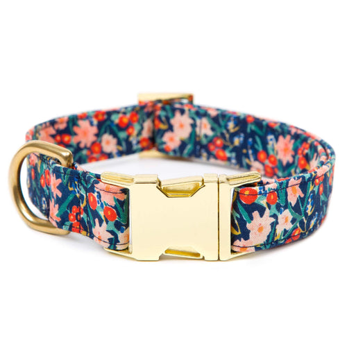 Inky Bloom Dog Collar
