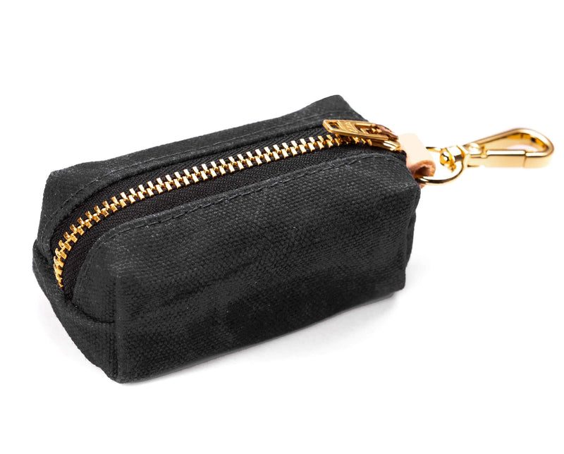 Leash Bag - Waxed Canvas in Onyx