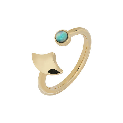 GOLD OPALE RING WILHELMINA GARCIA