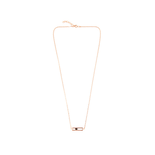 SILVER  PRECIOUS CAGE SHORT NECKLACE