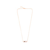 PINK GOLD PRECIOUS CAGE SHORT NECKLACE