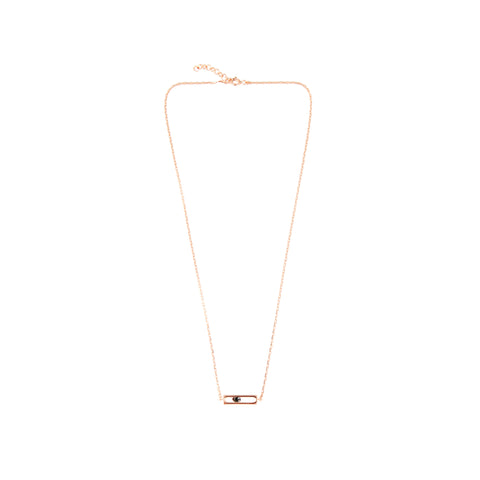 GOLD PRECIOUS CAGE SHORT  NECKLACE