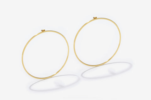XL HOOPS GOLD EARRINGS